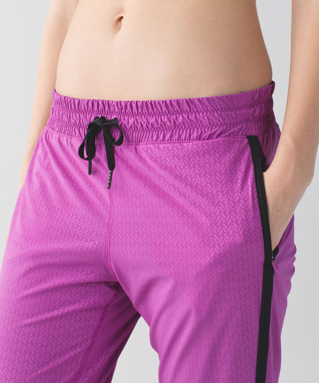 Lululemon Track To Reality Pant III - Biggie Washi Weave Embossed Ultra Violet / Black