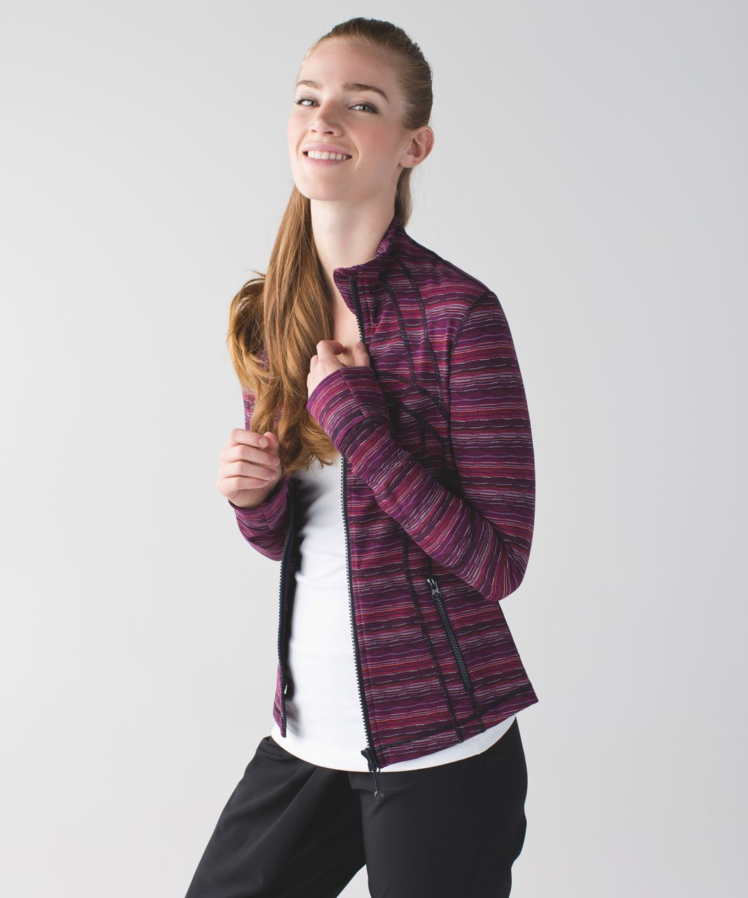 Lululemon Define Jacket - Space Dye Twist Regal Plum Alarming