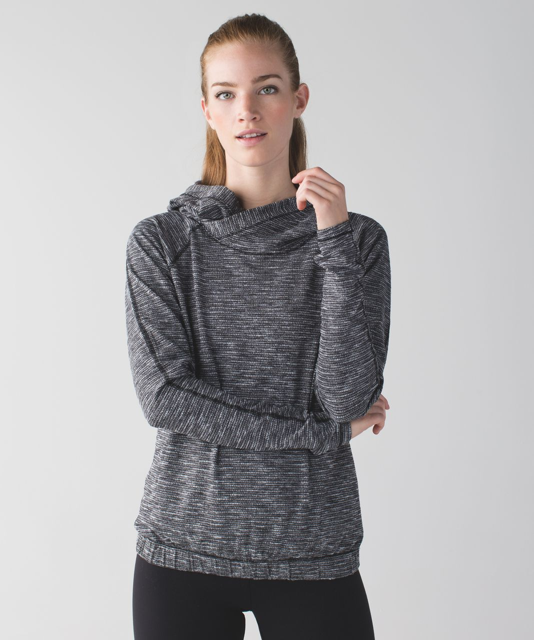 Lululemon Healthy Heart Pullover II - Coco Pique Black White