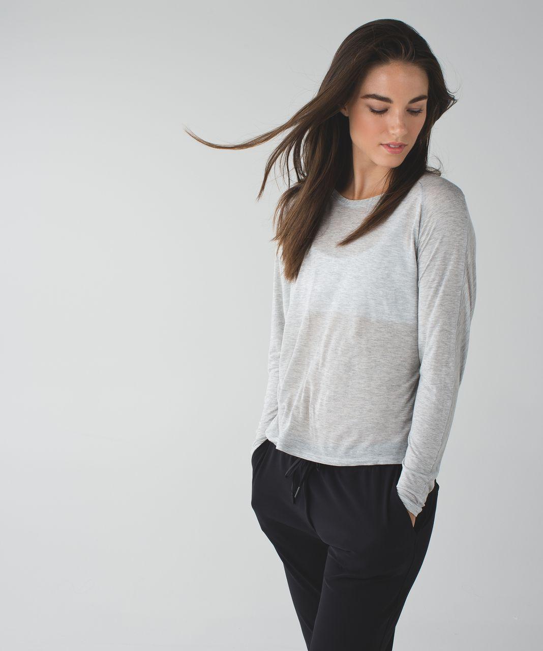Lululemon Made To Layer Long Sleeve Tee - Heathered Mod Light Grey