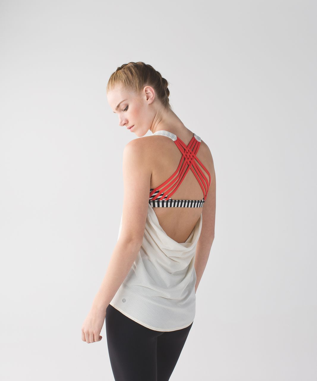 2086bfcb07 Lululemon Wild Tank - Angel Wing   Narrow Bold Stripe Black Angel Wing    Alarming - lulu fanatics