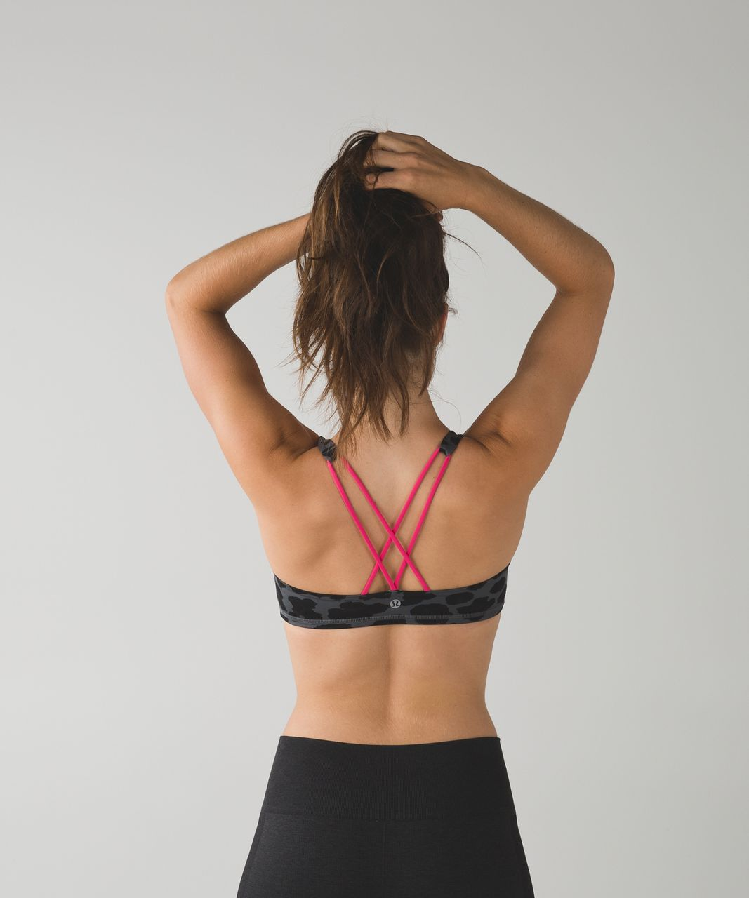Lululemon Free To Be Bra - Cherry Cheetah Dark Slate Black / Giant Herringbone Black Heathered Black / Deep Coal