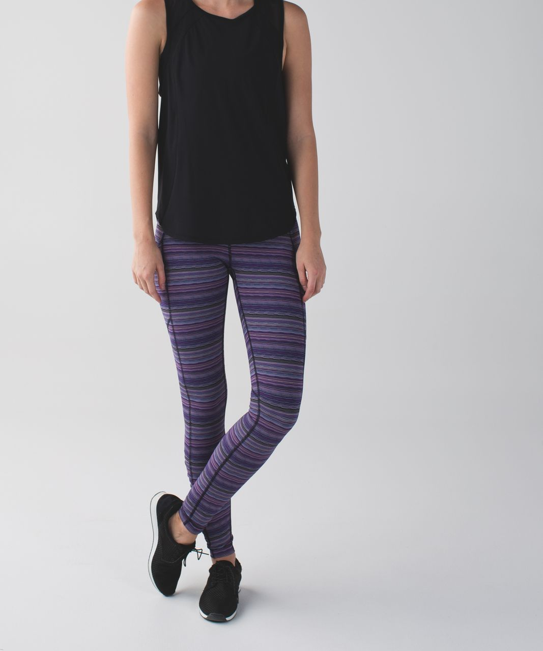 Lululemon Speed Tight IV - Space Dye Twist Ultra Violet Multi / Black