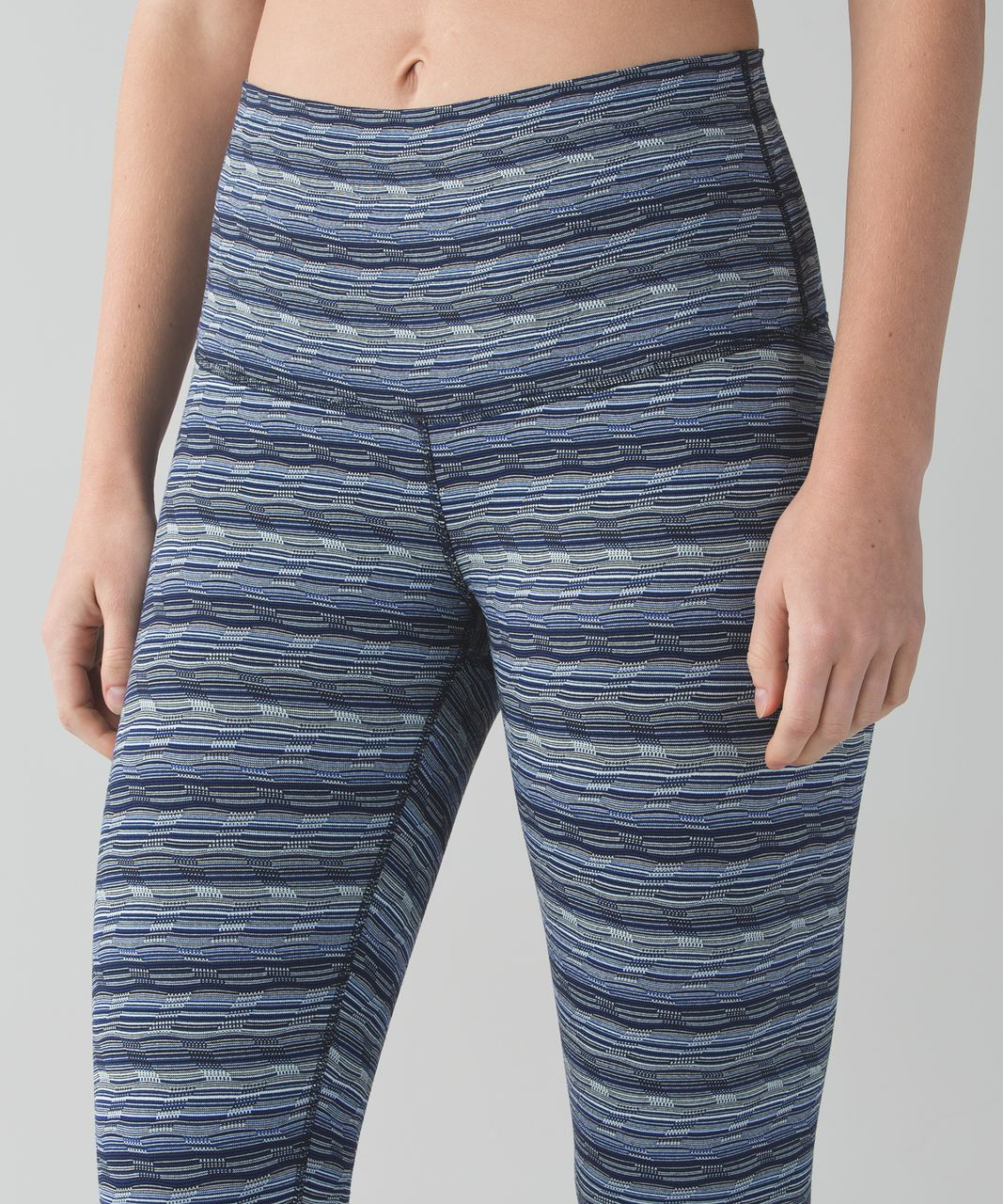 Lululemon Wunder Under Crop (Hi-Rise) - Space Dye Twist Sapphire Blue Multi