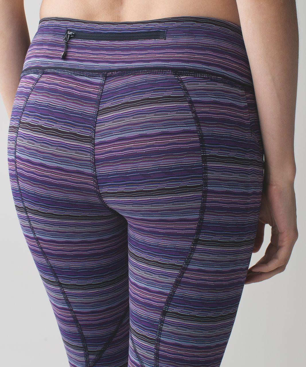 Lululemon Pace Rival Crop - Space Dye Twist Ultra Violet Multi / Naval Blue