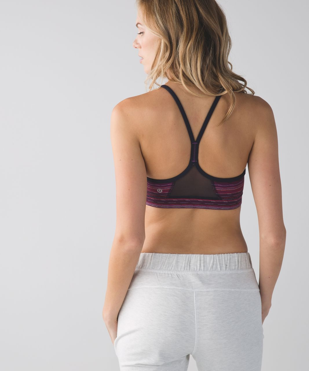 Lululemon Flow Y Bra IV - Space Dye Twist Regal Plum Alarming