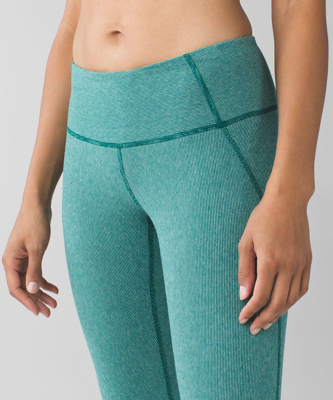 Lululemon Wunder Under Pant (Stripes) *Cotton - Wee Stripe Heathered Menthol Forage Teal
