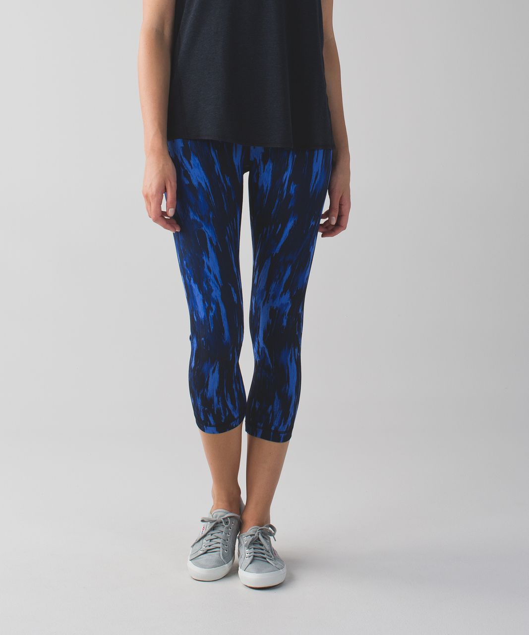 Lululemon Wunder Under Crop (Hi-Rise) - Painted Animal Sprinkler Black