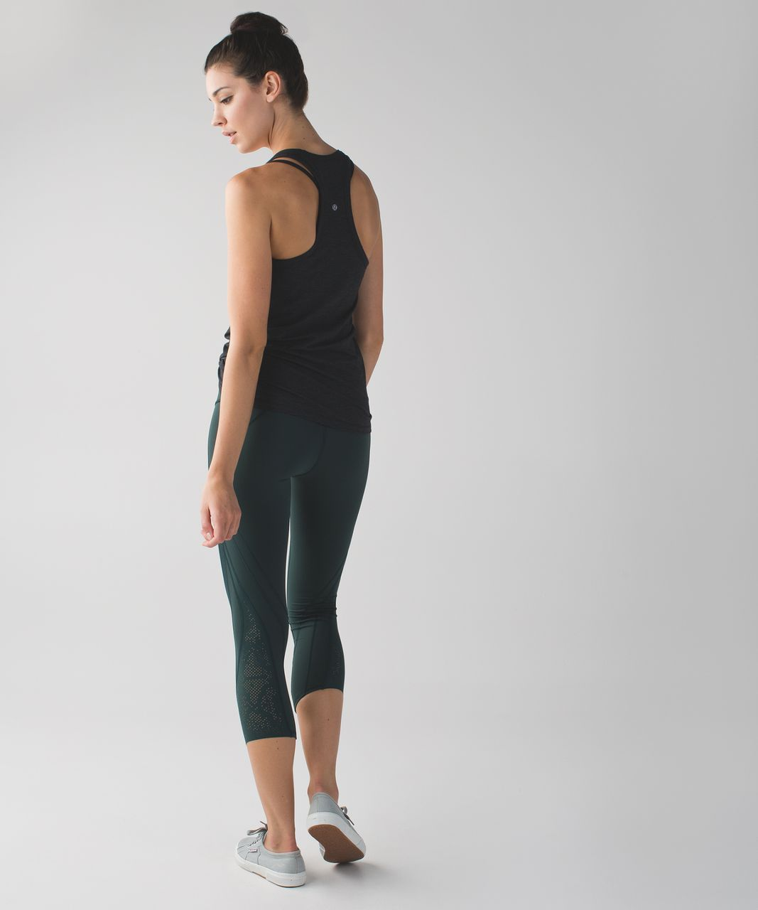 Lululemon Wunder Under Crop (Laser) *Full-On Luon - Dark Fuel