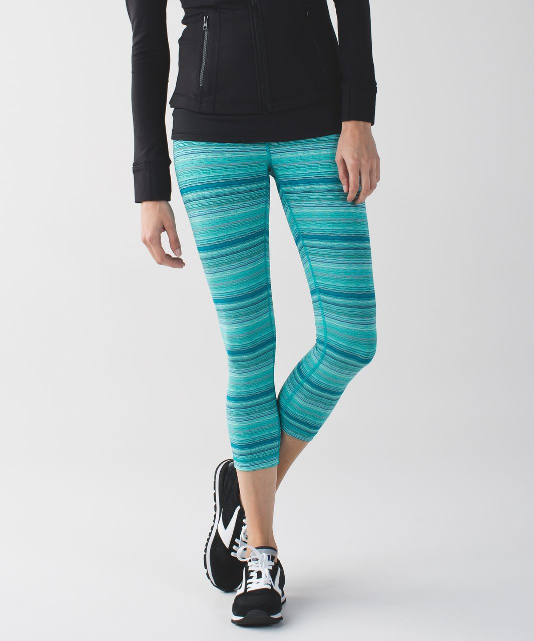 Lululemon Wunder Under Crop III *Luxtreme - Space Dye Twist Cosmic Teal Multi