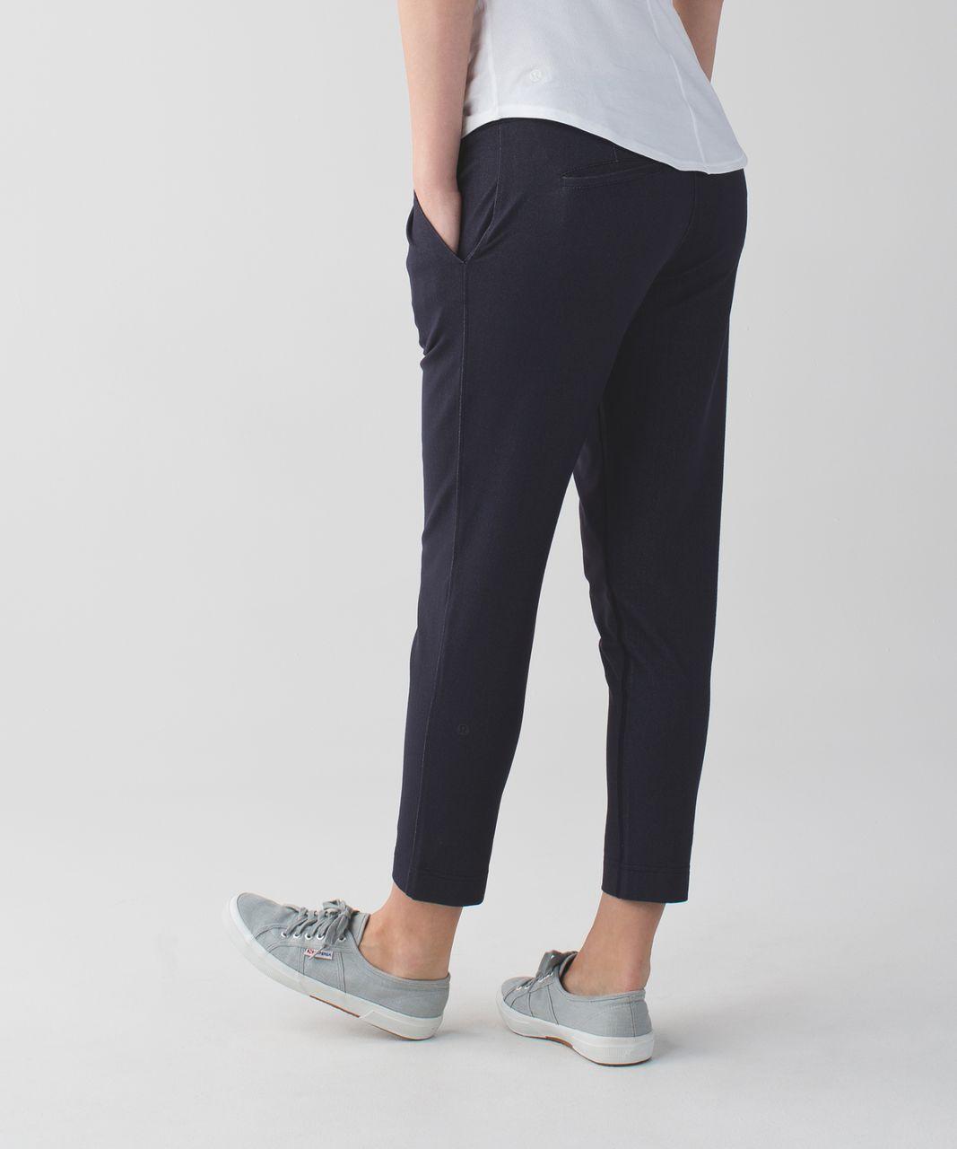 Lululemon Jet Crop (Slim) *Luon - Denim Luon Naval Blue