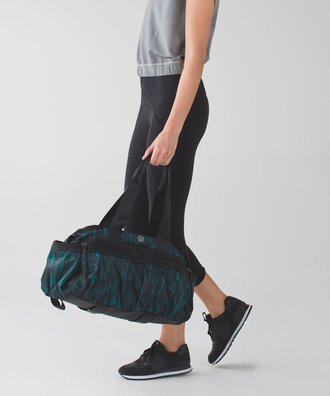 958938aca9c Lululemon Gym To Win Duffel - Painted Animal Forage Teal Dark Fuel / Black