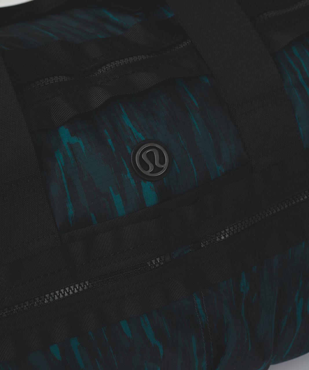 Lululemon Gym To Win Duffel - Painted Animal Forage Teal Dark Fuel / Black