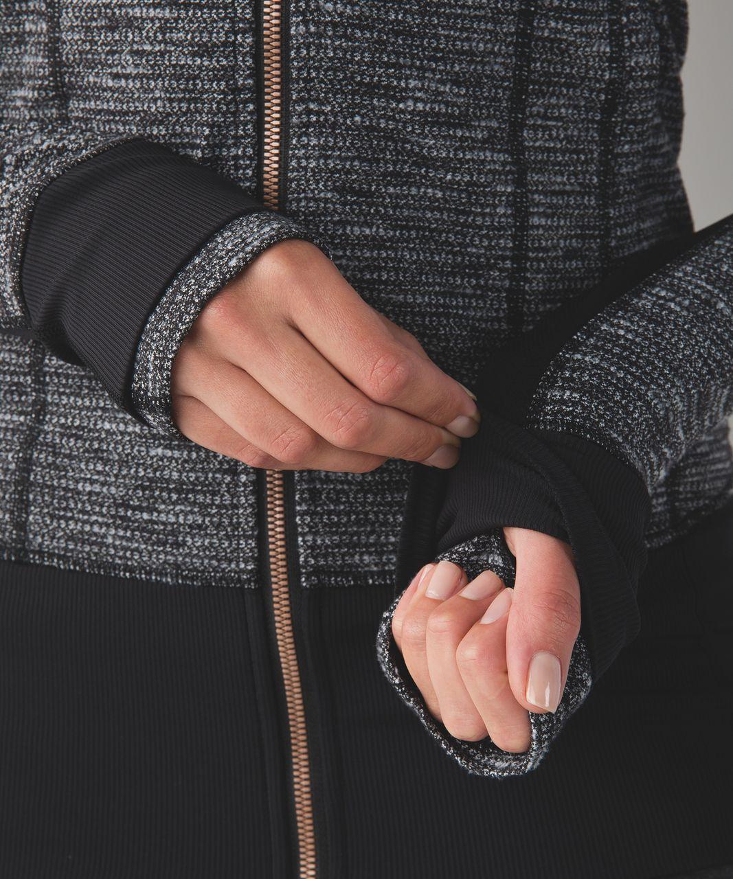 Lululemon Daily Practice Jacket - Coco Pique Black White