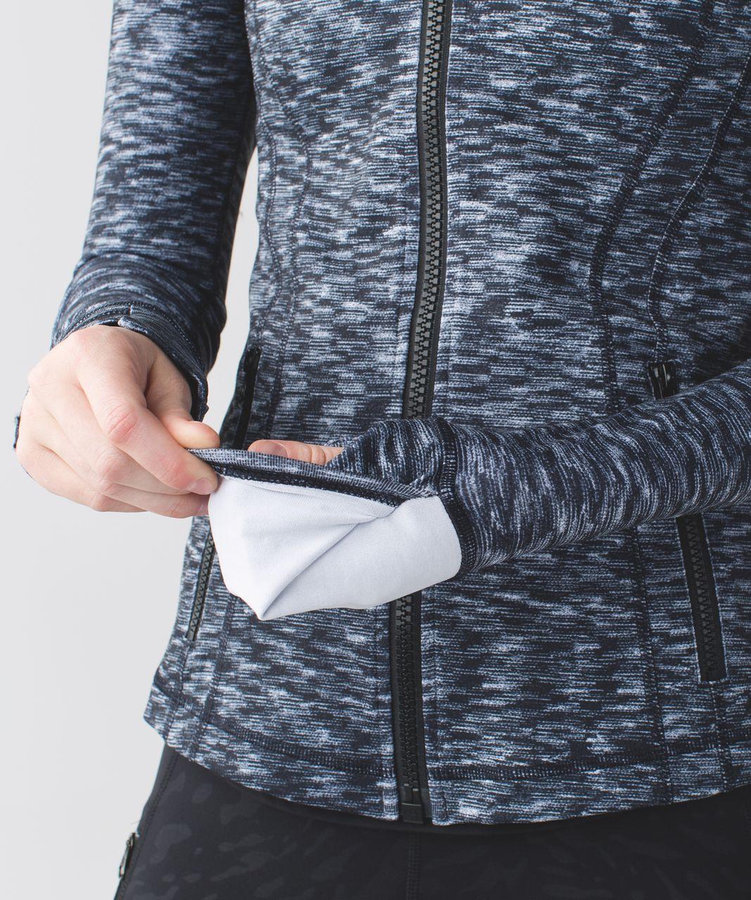 Lululemon Define Jacket - Dramatic Static White Black