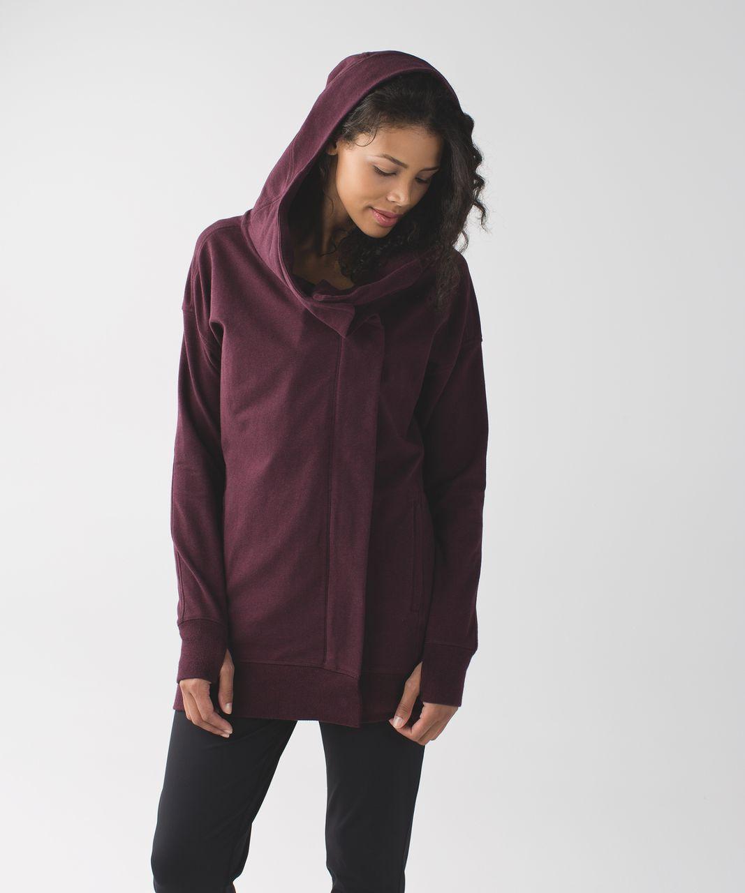 Lululemon Wrap Up Jacket Heathered Bordeaux Drama Lulu