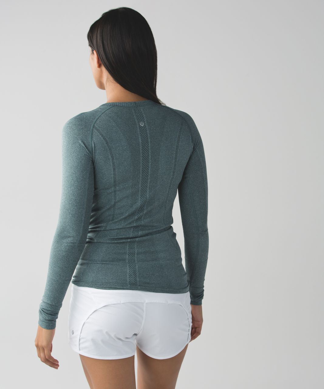 Lululemon Swiftly Tech Long Sleeve Crew - Heathered Dark Fuel