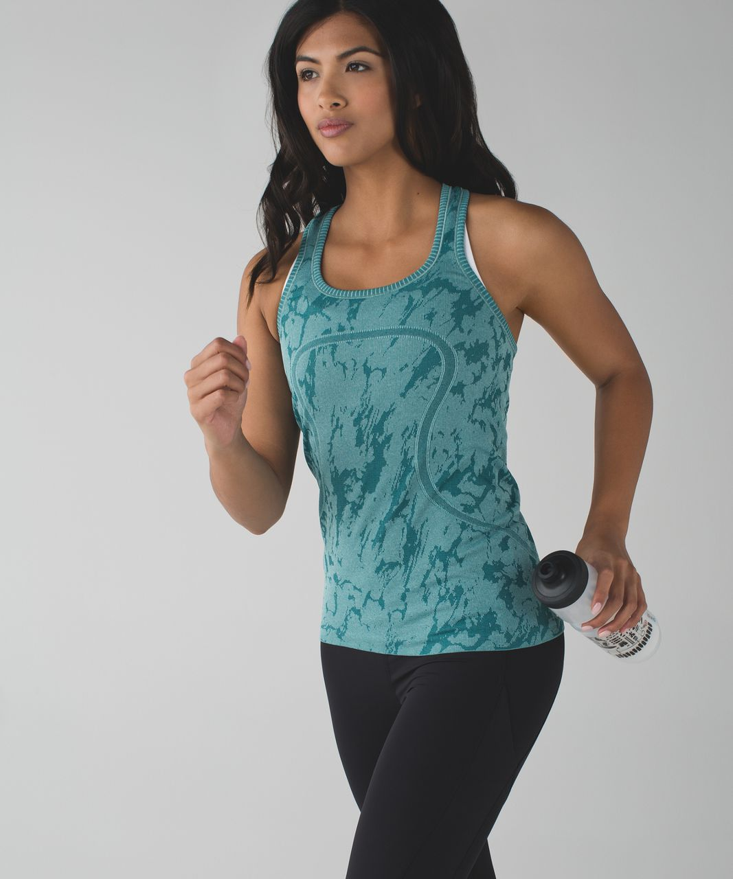 Lululemon Swiftly Tech Racerback - Heathered Forage Teal