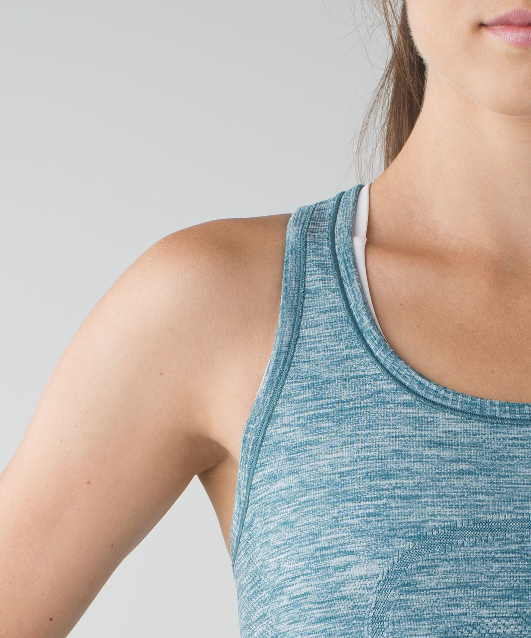 Lululemon Swiftly Tech Racerback - Heathered Desert Teal