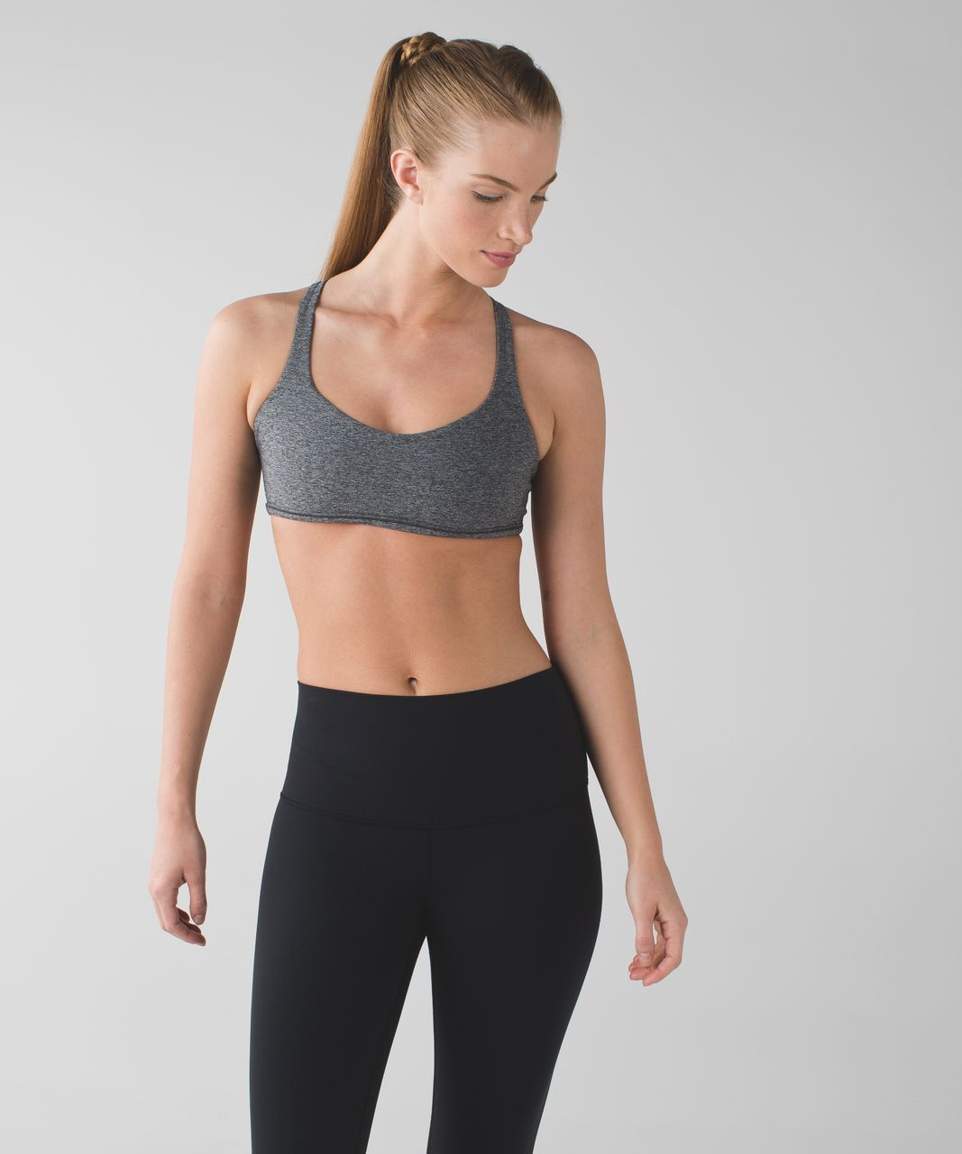 Lululemon Free To Be *Wild - Heathered Black / White / Black