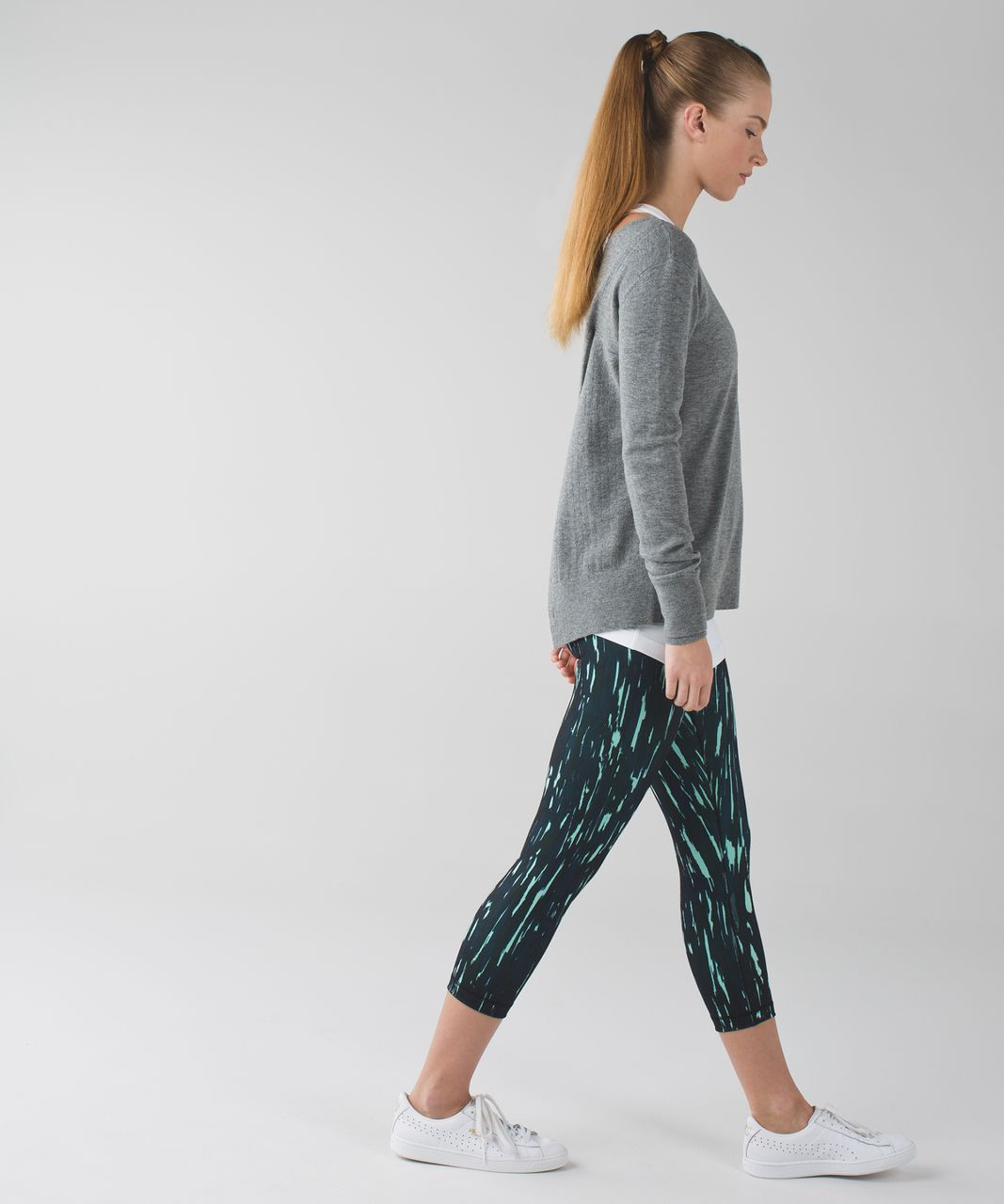 Lululemon Wunder Under Crop III - Painted Animal Menthol Black