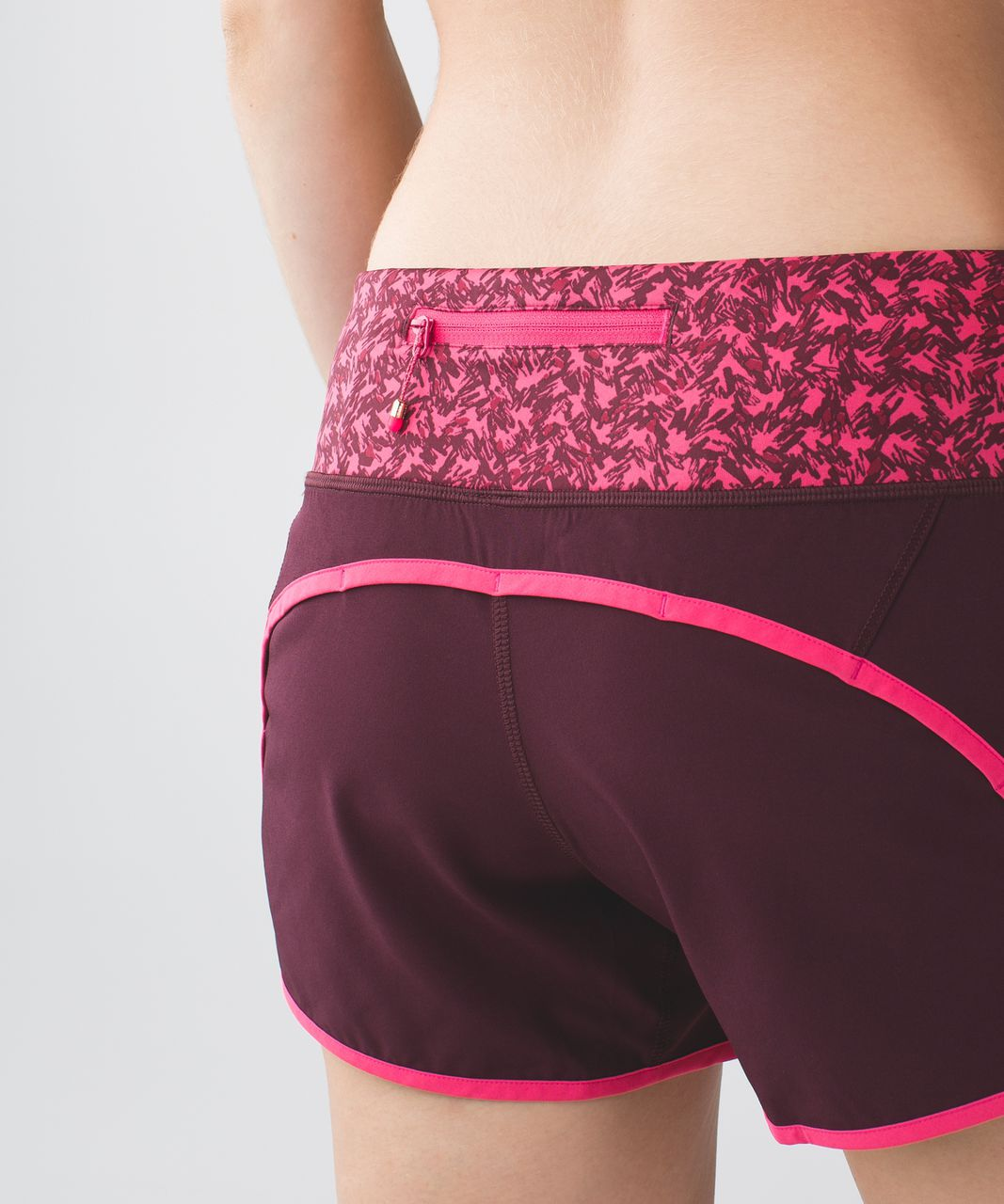 Lululemon Run Times Short *4-way Stretch - Bordeaux Drama / Bon Bon / Mountain Peaks Bon Bon Bordeaux Drama