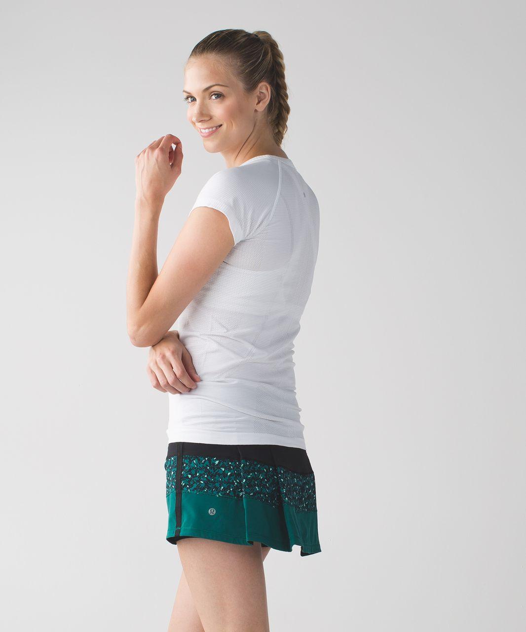 Lululemon Pace Rival Skirt II (Regular) *4-way Stretch - Black / Mountain Peaks Black Forage Teal / Forage Teal