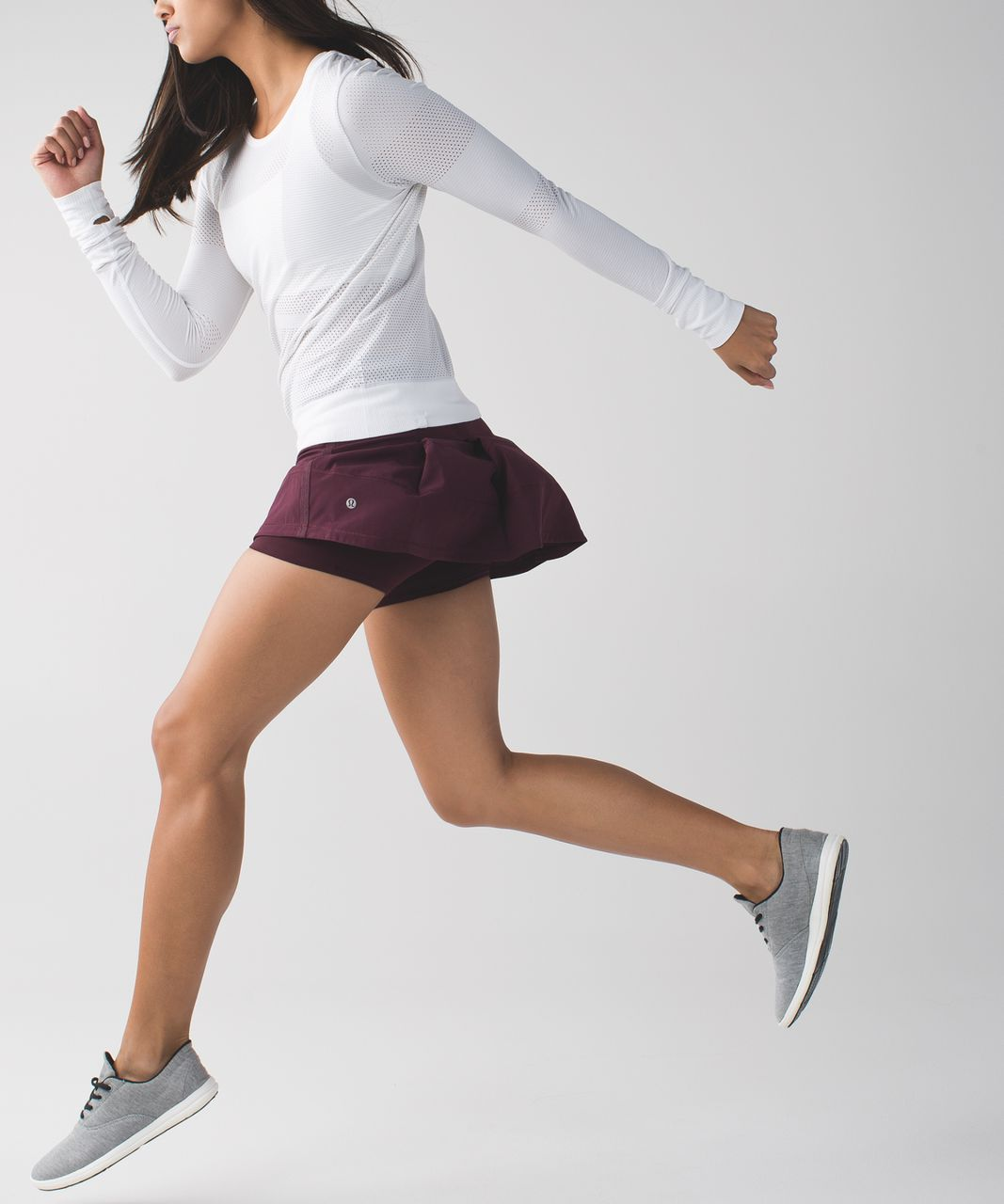 Lululemon Pace Rival Skirt II (Regular) *4-way Stretch - Bordeaux Drama