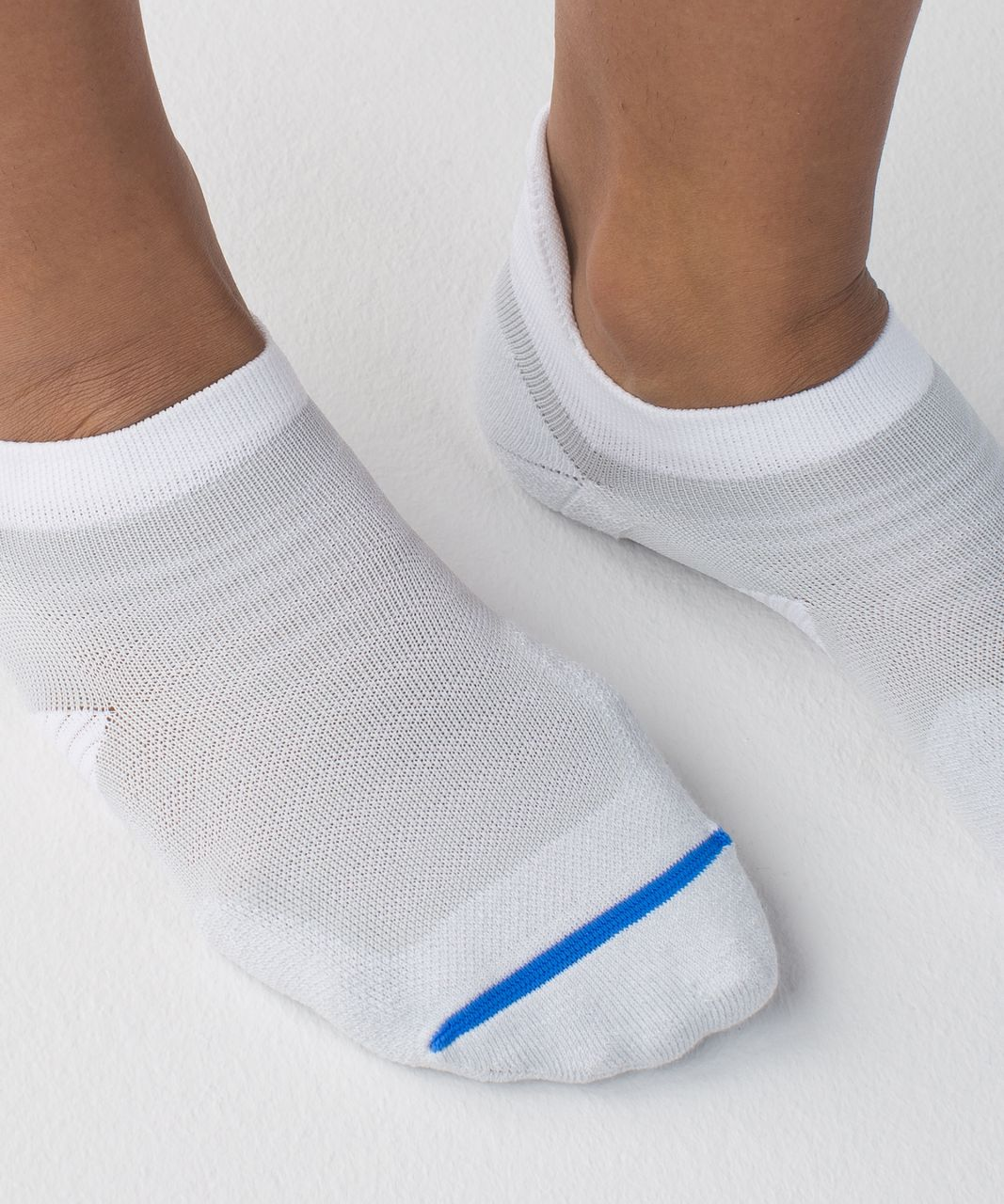 Lululemon Speed Sock - Silver Spoon / White / Pipe Dream Blue