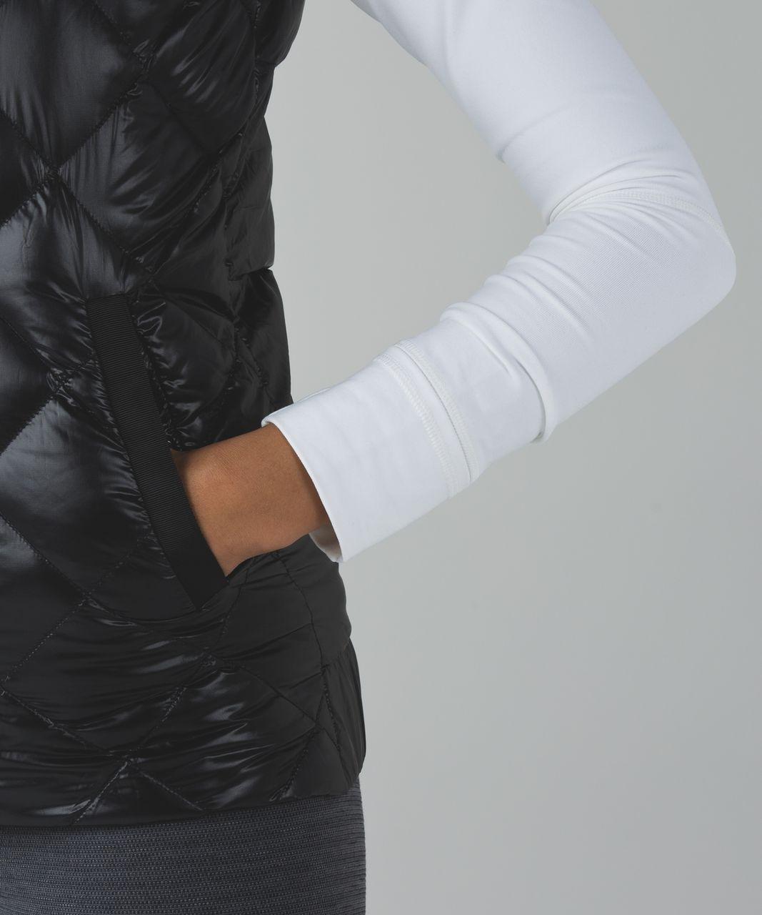 Lululemon The Fluffiest Vest - Black / Ziggy Snake Butter Pink Black