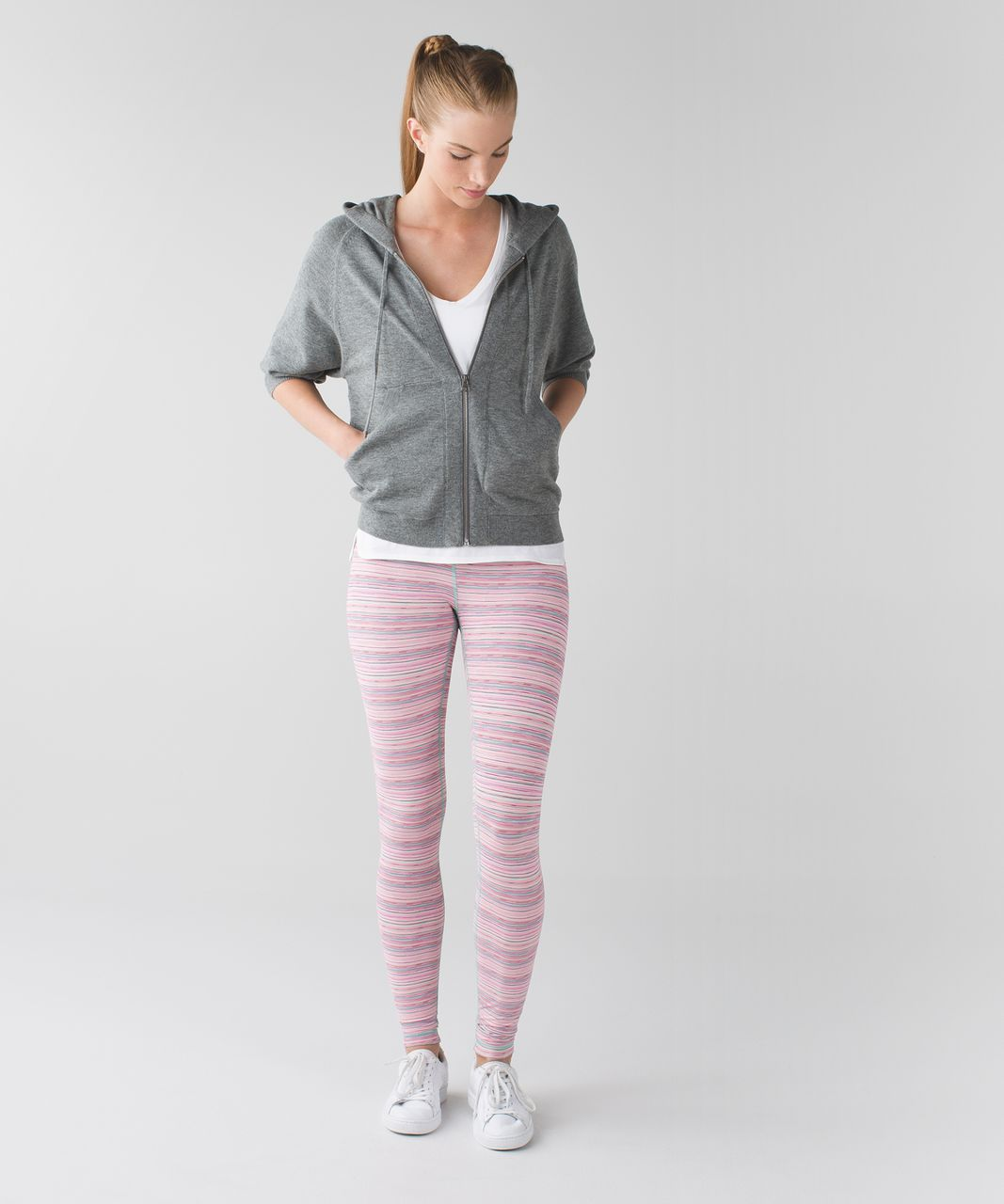 Lululemon Wunder Under Pant III *Luxtreme - Cyber Stripe Flash Light Menthol