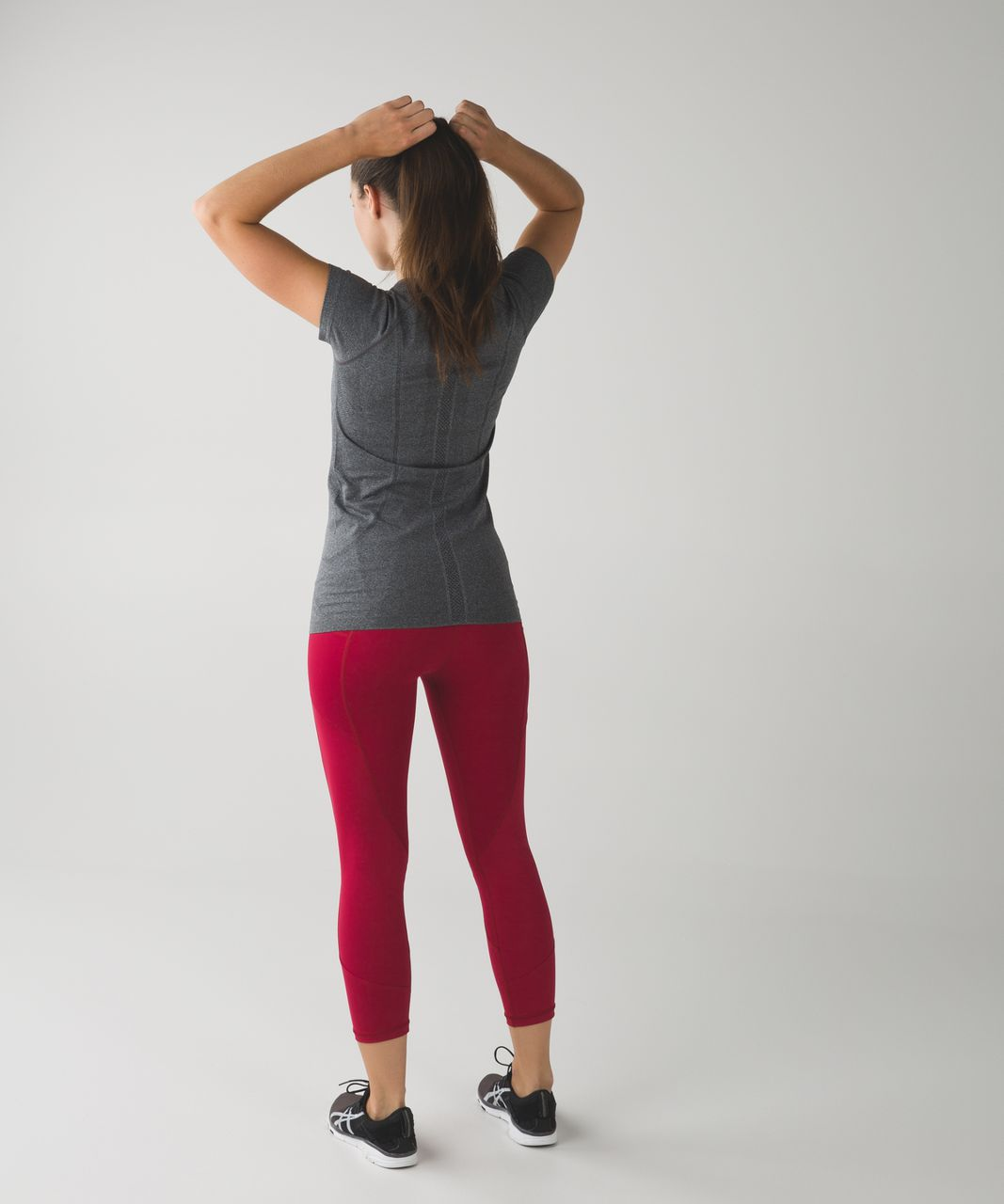 Lululemon All The Right Places Crop - Cranberry / Windy Blooms Regal Plum Multi