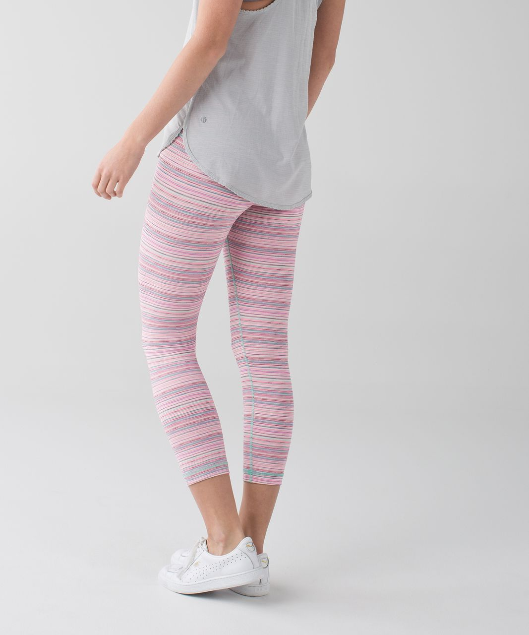 Lululemon Wunder Under Crop III *Luxtreme - Cyber Stripe Flash Light Menthol