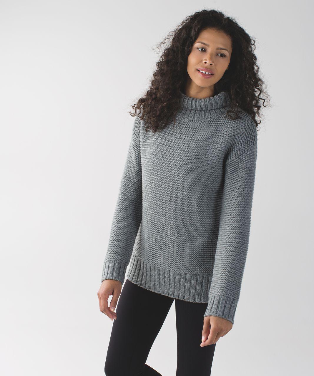 Lululemon Karma Kurmasana Sweater - Heathered Medium Grey