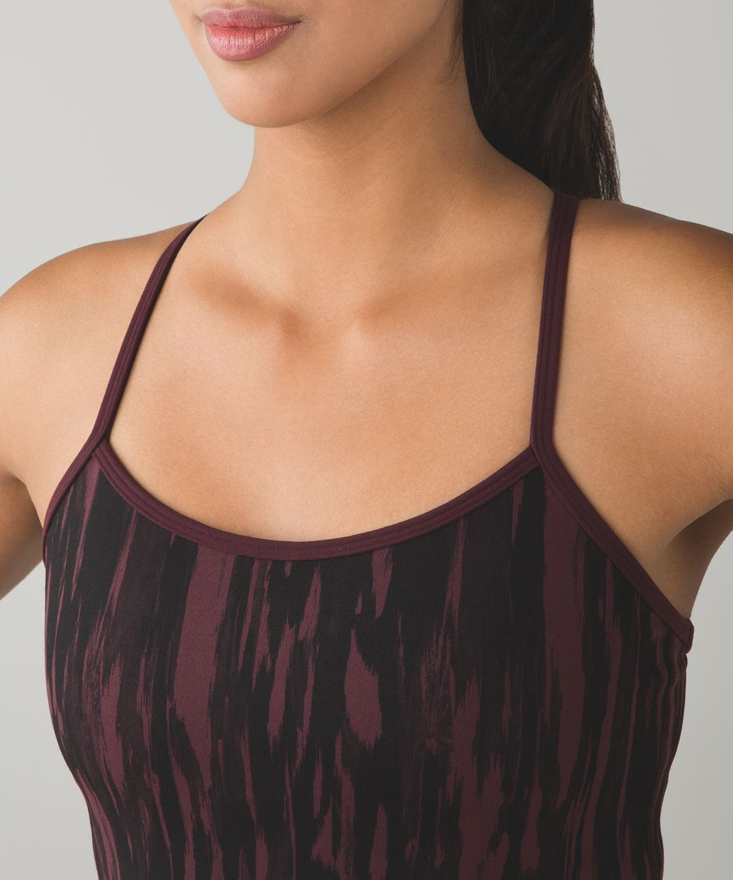 Lululemon Power Y Tank *Luon - Painted Animal Bordeaux Drama Black / Bordeaux Drama