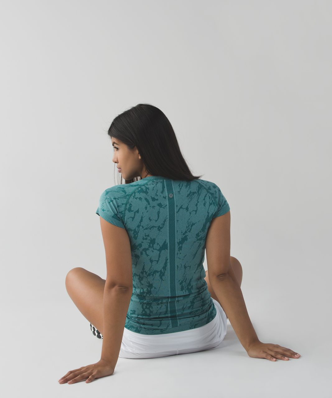 Lululemon Swiftly Tech Short Sleeve Crew - Heathered Forage Teal