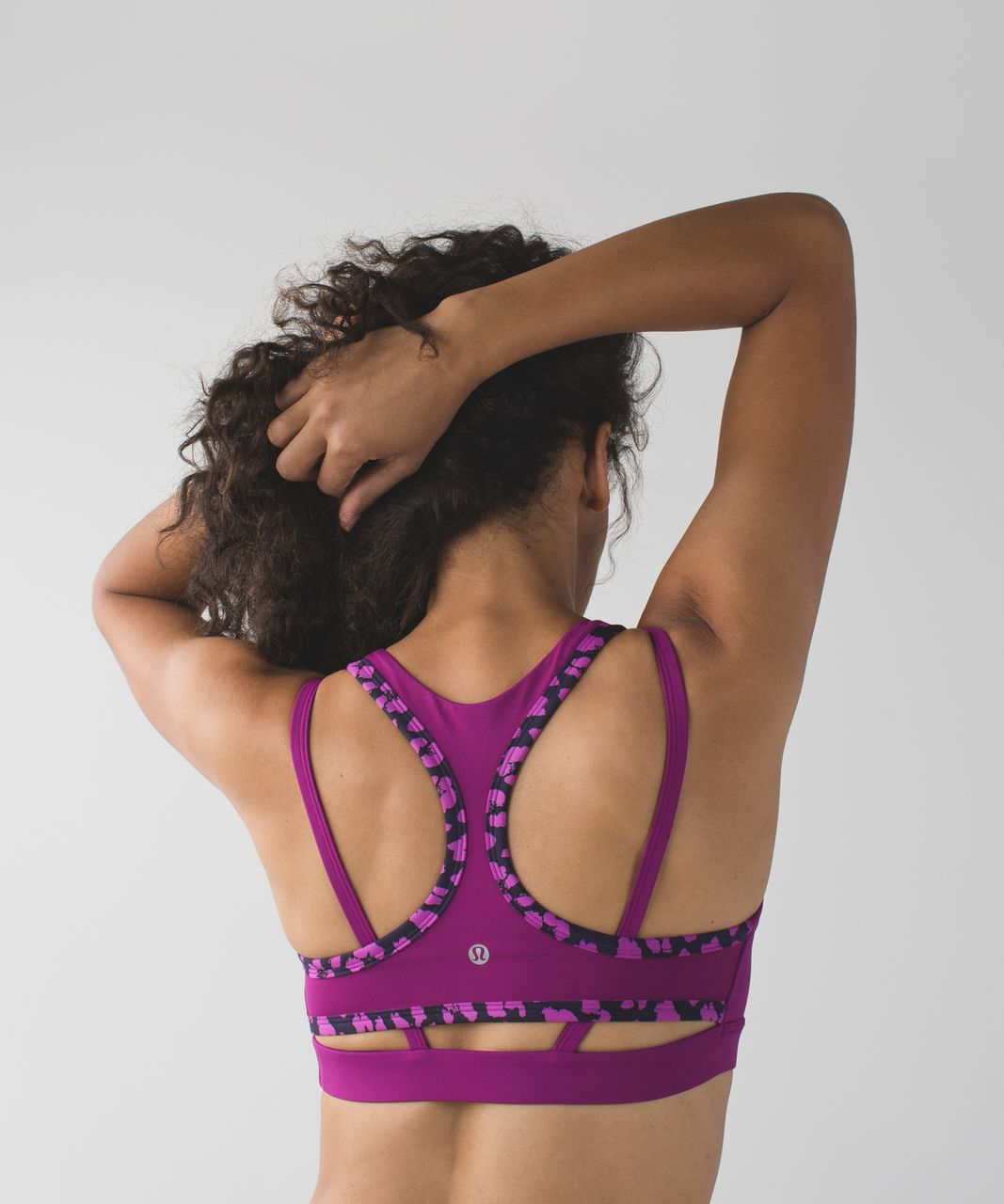 Lululemon Splendour Bra - Mini Cherry Cheetah Ultra Violet Naval Blue / Regal Plum