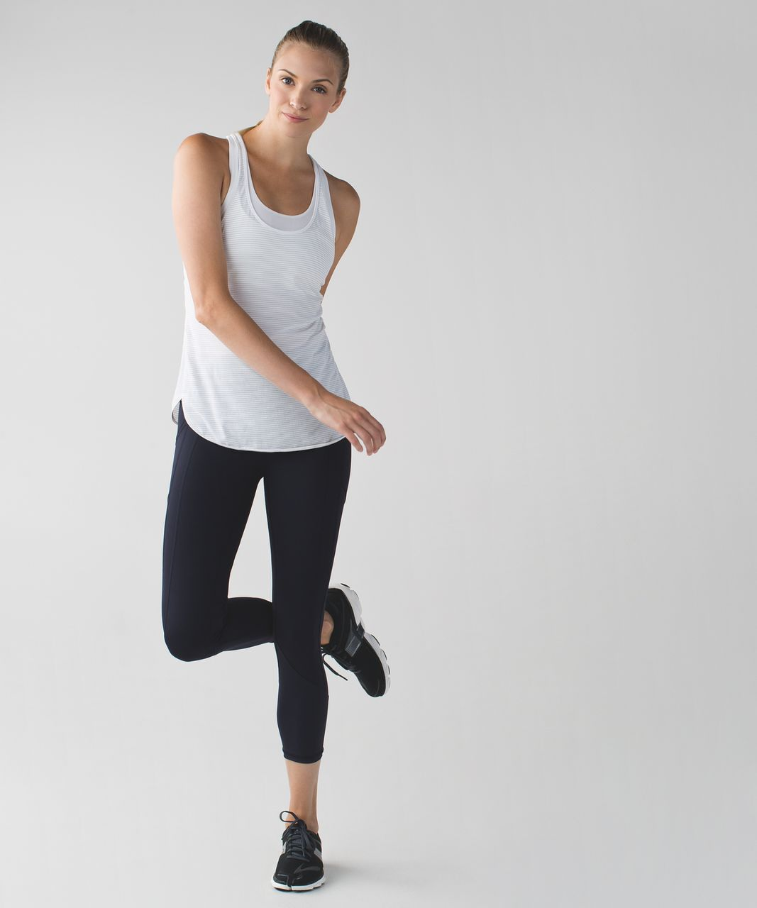 Lululemon All The Right Places Crop - Naval Blue / Painted Animal Menthol Black