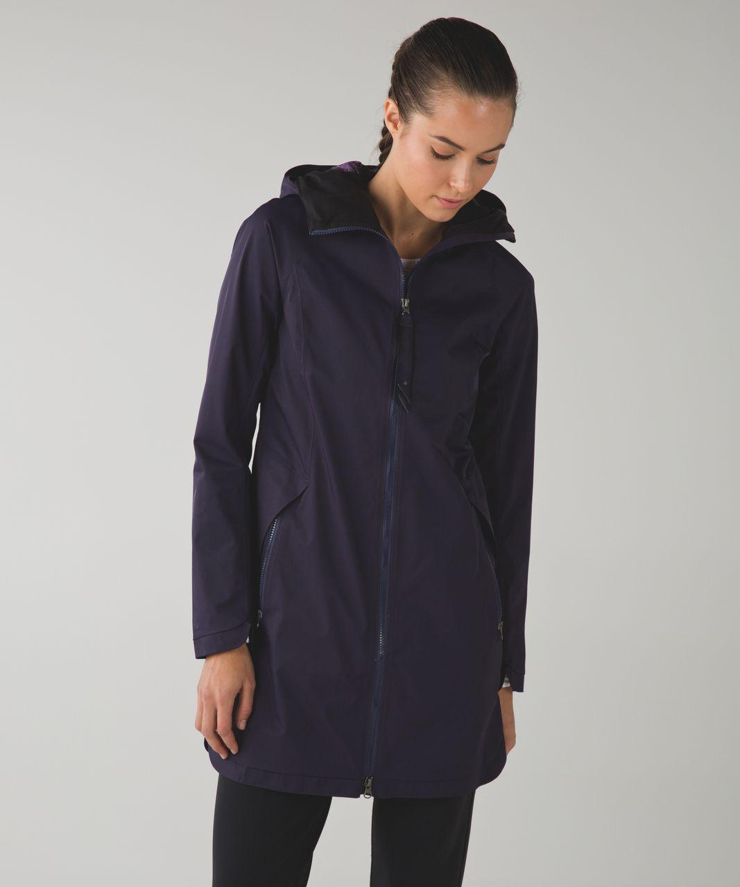 Lululemon Definitely Raining Jacket - Black Grape