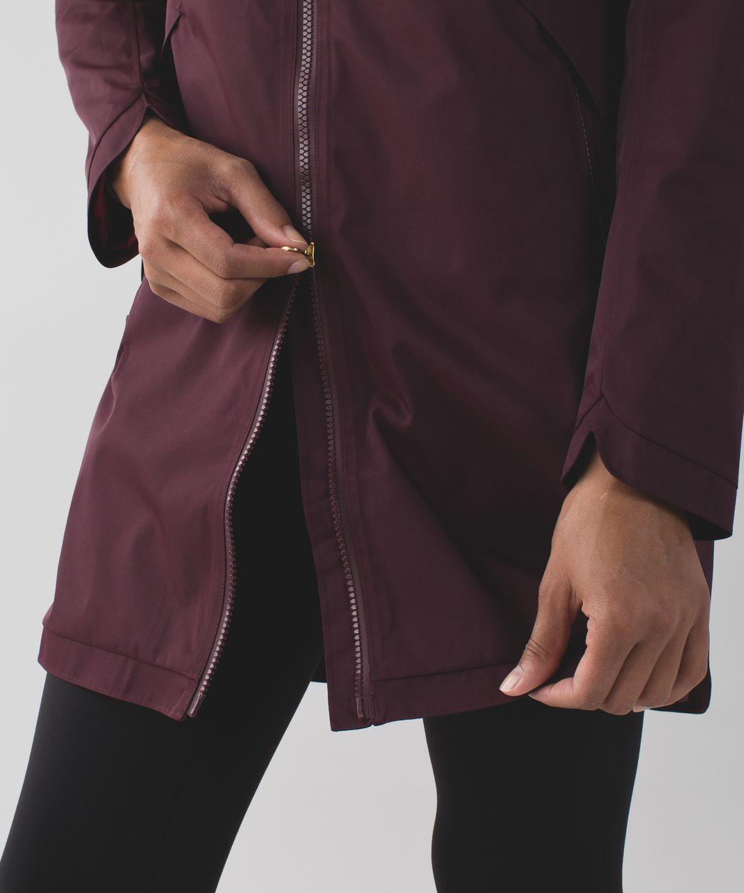 Lululemon Definitely Raining Jacket - Bordeaux Drama