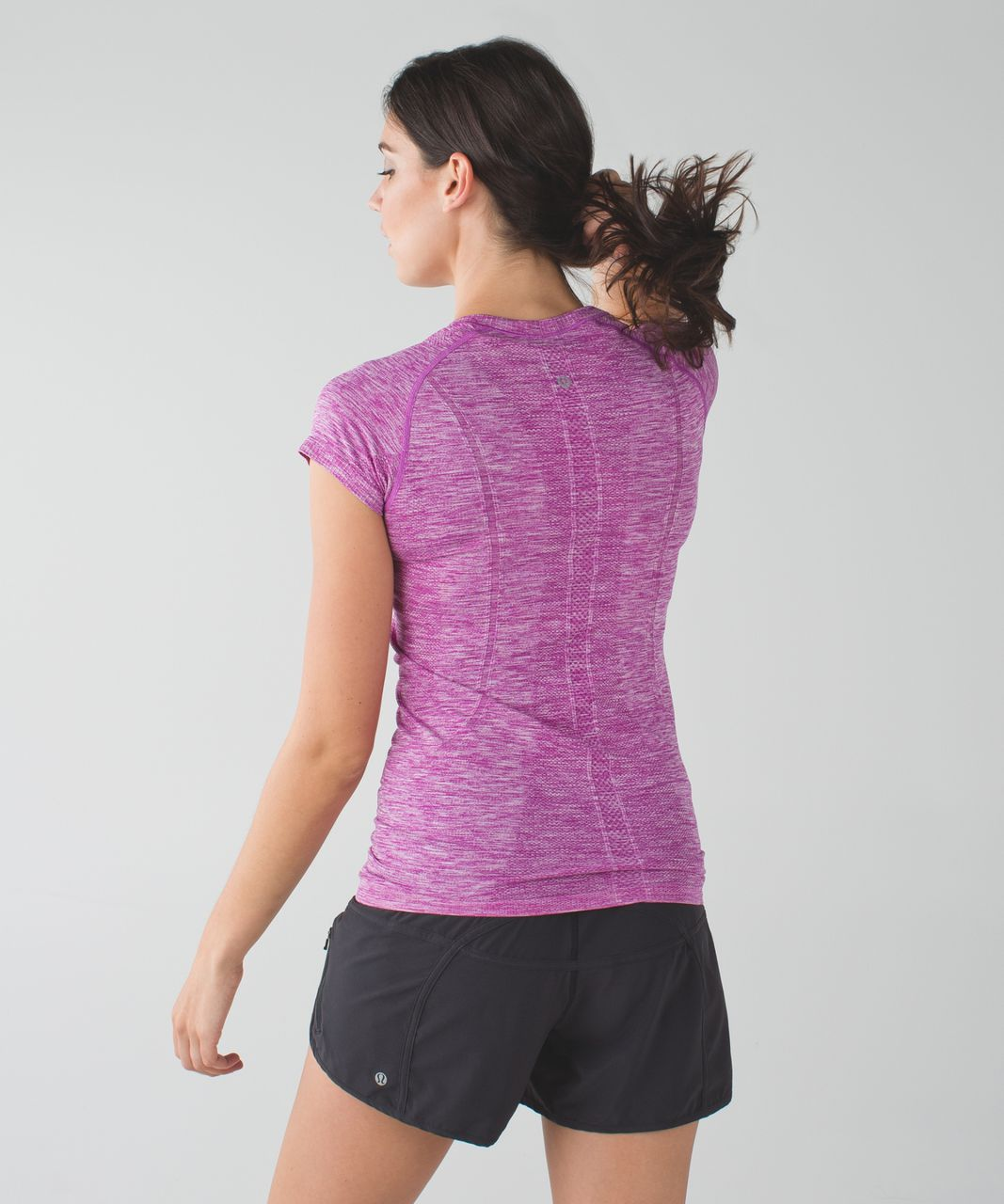 Lululemon Swiftly Tech Short Sleeve Crew - Heathered Ultra Violet