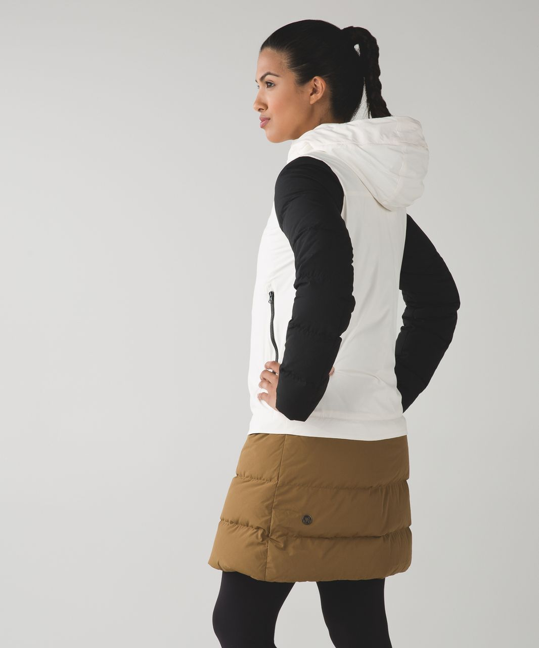 Lululemon Cold As Fluff Parka - Angel Wing / Camel / Black