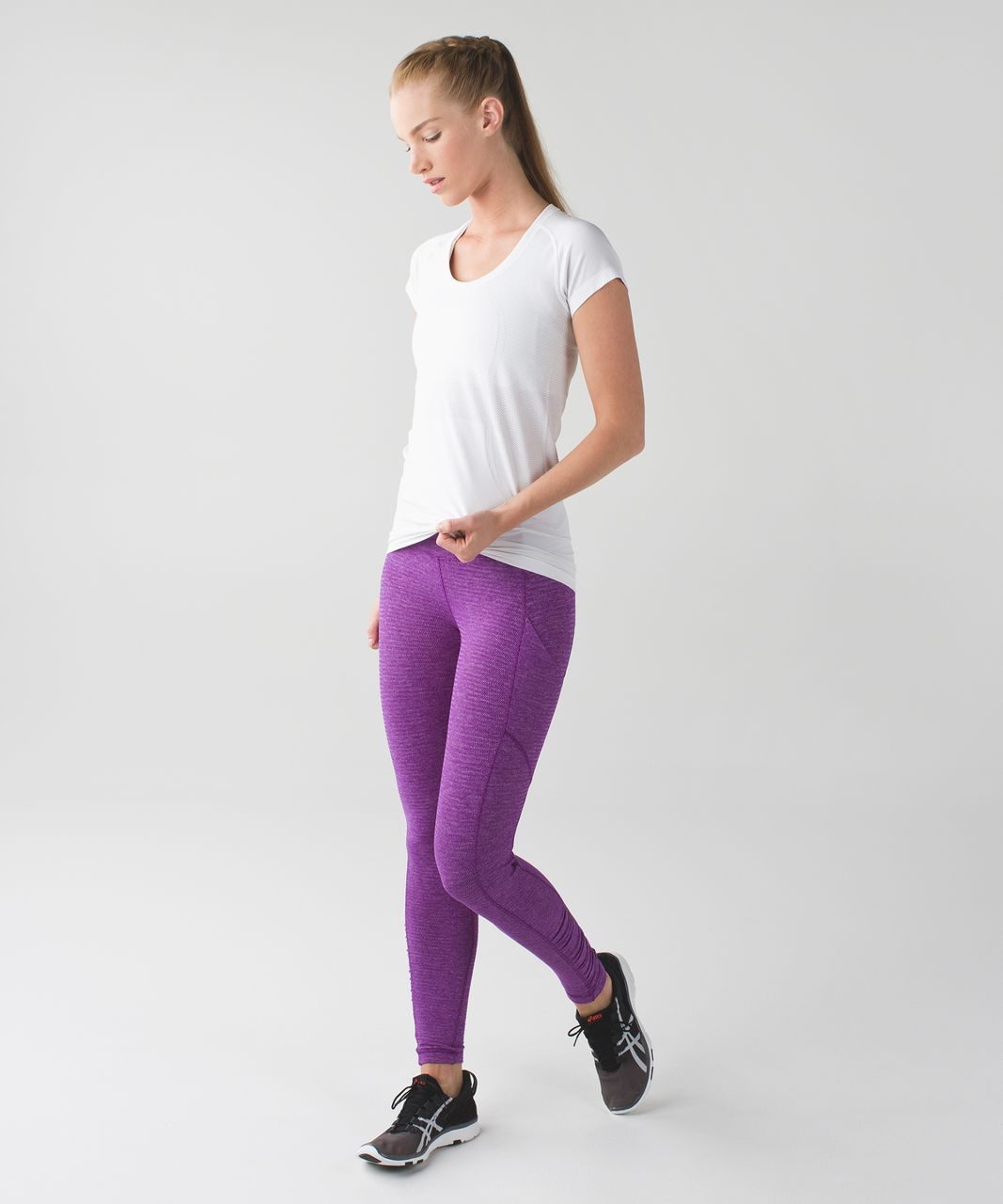 Lululemon Speed Tight IV *Rulu - Heathered Herringbone Heathered Tender Violet Black Grape