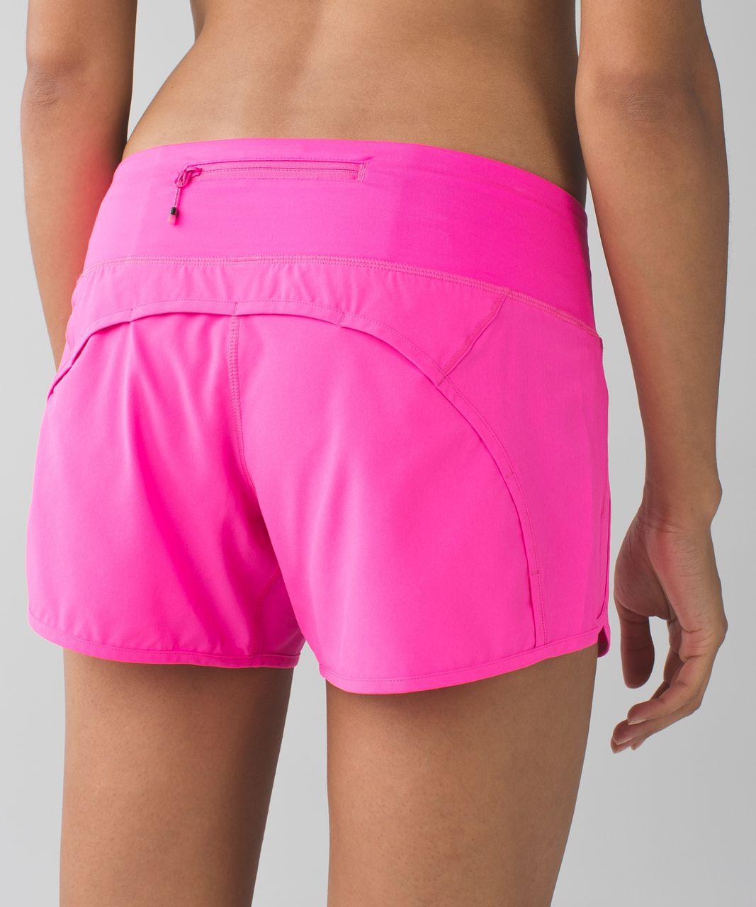 "Lululemon Run Times Short *4-way Stretch 4"" - Raspberry Glo Light"