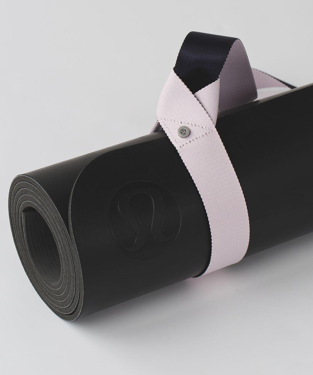Lululemon Loop It Up Mat Strap - Black Grape / Powdered Rose