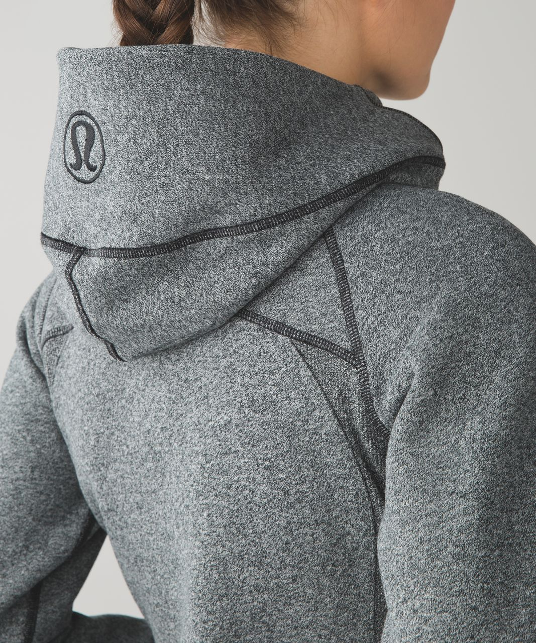 Lululemon Scuba Hoodie *Classic Cotton Fleece - Heathered Speckled Black