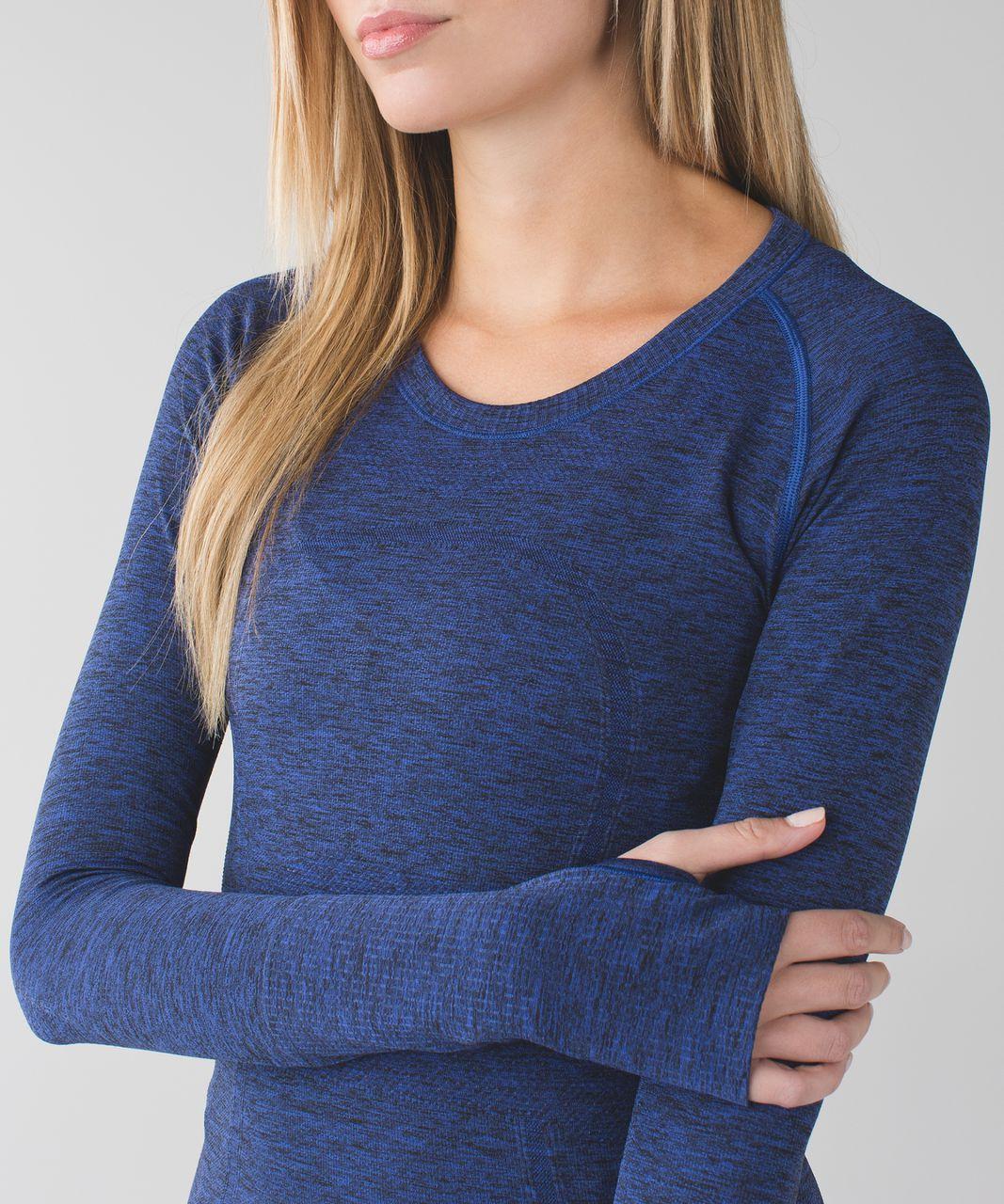 Lululemon Swiftly Tech Long Sleeve Crew - Heathered Sapphire Blue