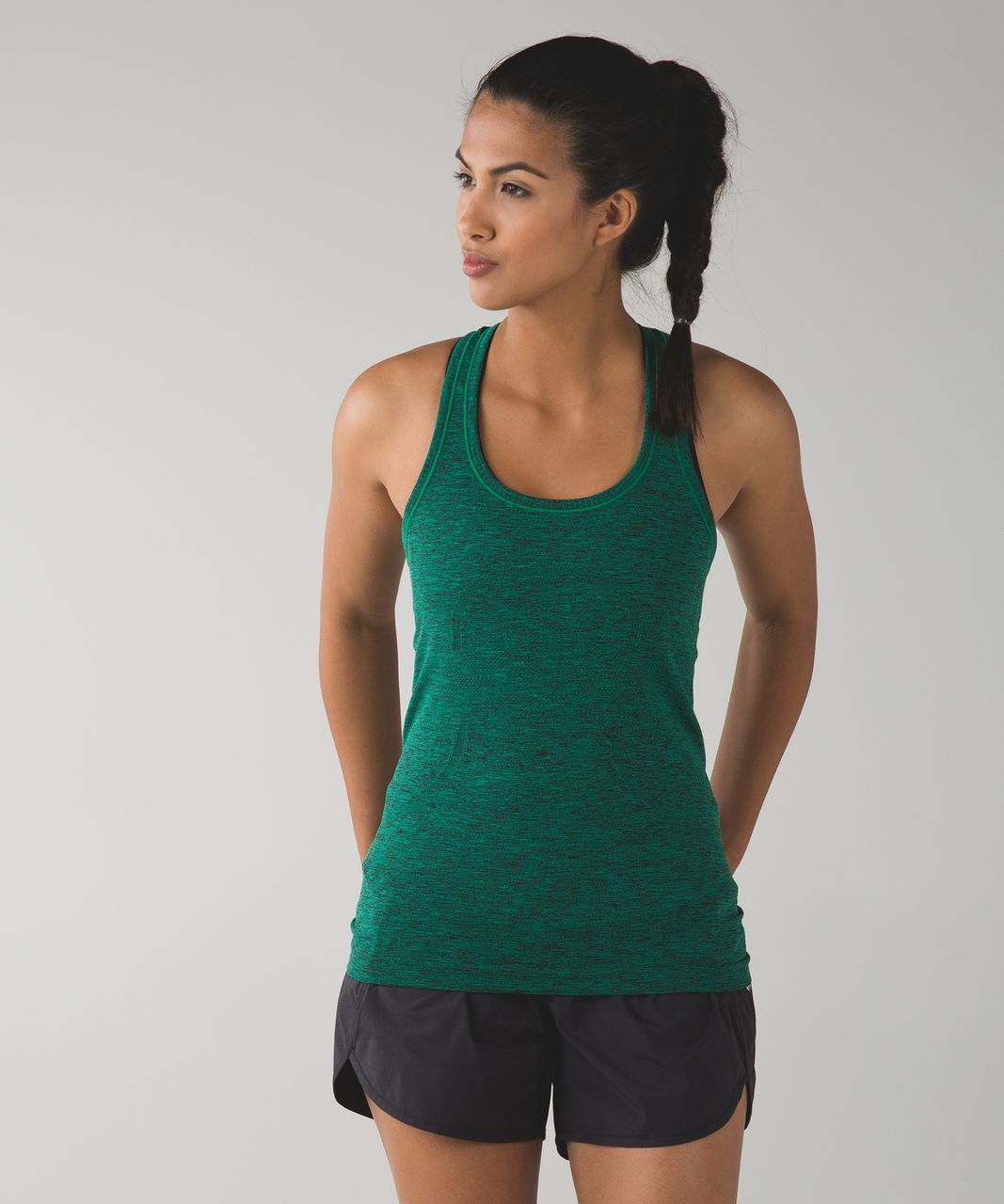 Lululemon Swiftly Tech Racerback - Heathered Jungle