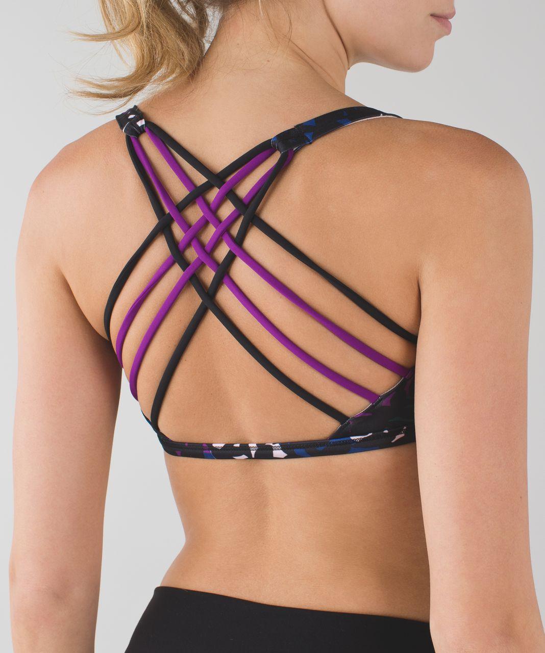 Lululemon Free To Be Bra *Wild - Shadow Wrap Multi / Black / Tender Violet