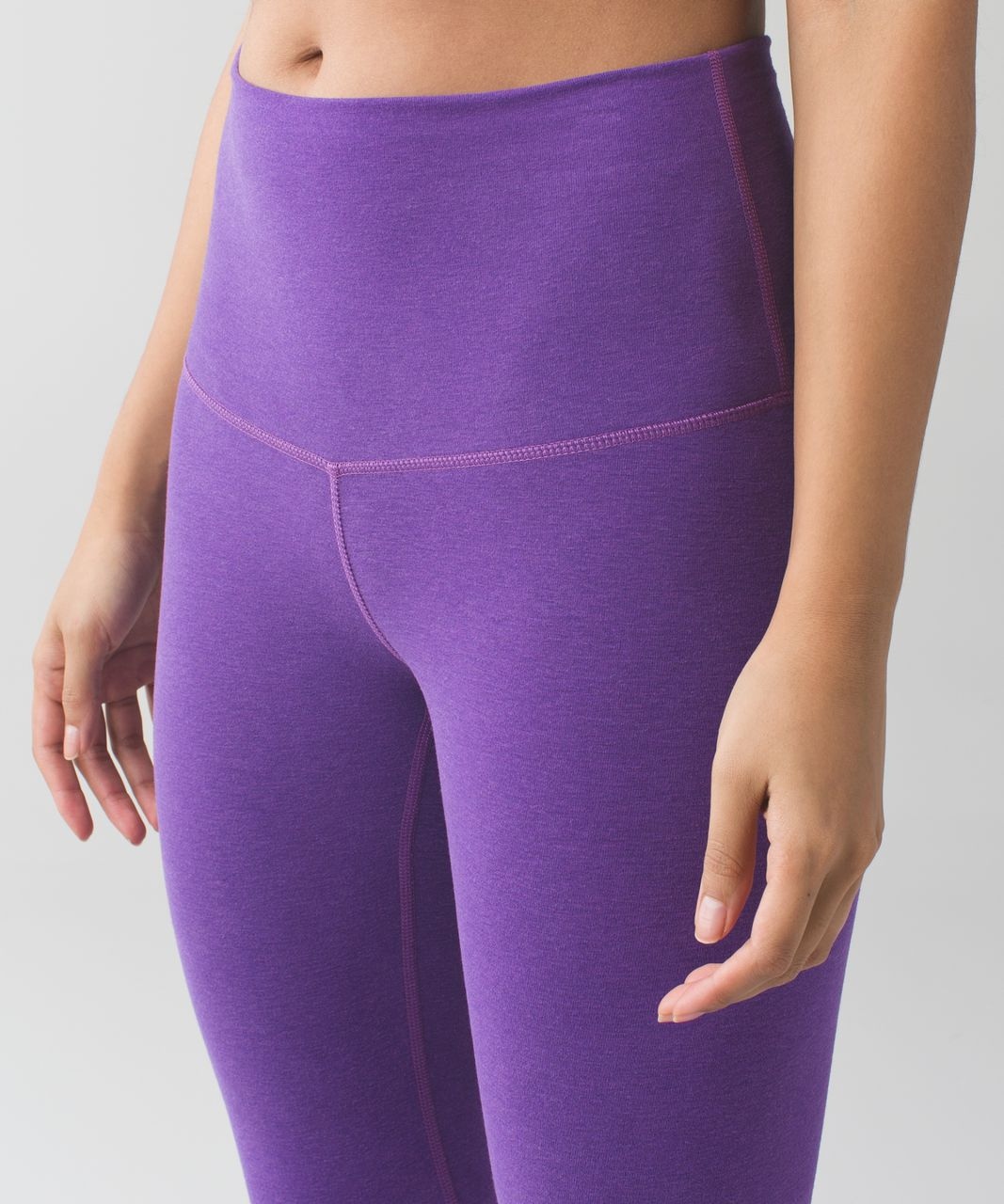 Lululemon Wunder Under Pant (Hi-Rise) *Cotton - Heathered Tender Violet